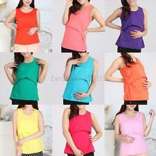NEW Nursing Shirt Tank top Maternity clothes Nursing Tops Breastfeeding Tops B60