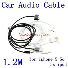 3.5mm to USB Aux Car Charger Audio Cable Adapter iPhone 5 5S 5C 4 4S iPod Touch