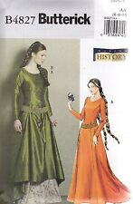 Butterick Sewing Pattern Making History Misses' Medieval Dress Belt 6 - 20 B4827