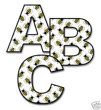 Bumble Bee Alphabet Letter Wall Decal Baby Nursery Personalized Name Stickers