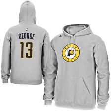 Paul George Indiana Pacers adidas Name & Number Pullover Hoodie - Gray - NBA