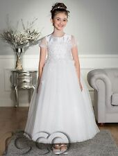 Girls Holy Communion Dress, White Dress, White Communion Dress, Formal Dress
