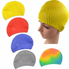 Silicone Flexible Swimming Cap Bathing Unisex Adult Hat Elasticity Waterproof