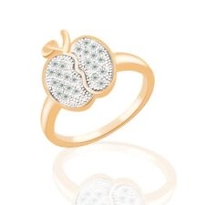 Cute desinger girls' lovely 18k Multi-Tone Gold Swarovski crystal ring SzM-SzR