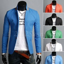 Stylish Men's Casual Durable Slim Fit One Button Suit Blazer Coat Jacket Tops