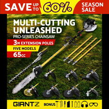 Giantz 65CC Pole Chainsaw Brush Cutter Whipper Snipper Hedge Trimmer Tree Pruner
