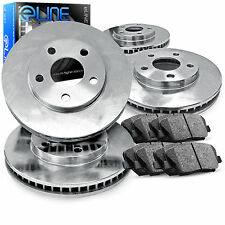 """Brake Rotors *FRONT+REAR KIT ELINE """"O.E. REPLACEMENT"""" & CERAMIC PADS RD35115"""