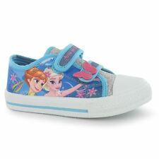 Character Kids Girls Canvas Infants Trainers Velcro Shoes Sneakers Casual