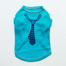 Blue Faux Tie Dog Shirts T-Shirt Tee for Dogs Pet Apparel Dog Clothes XS S M L