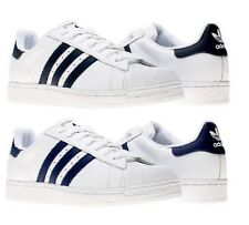 Adidas Superstar II Originals Trainers Mens White/Black & Navy Sneakers Shoes