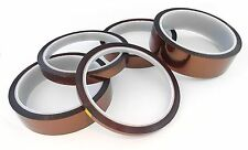 33m 100ft High Temperature Kapton Polyimide Heat Tape - CHOOSE SIZE -