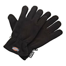 DICKIES MENS FLEECE THINSULATE GLOVES IN DARK GREY OR BLACK GL8000 ONE SIZE