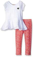 Juicy Couture Toddler Girls White Top 2pc Legging Set Size 2T 3T 4T $64.50