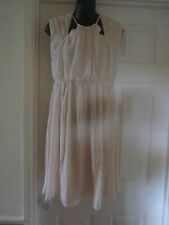 BNWT NEW IN @ ASOS MATERNITY NUDE SKATER DRESS WITH CUT OUT NECK SIZE 8 RRP 35.0
