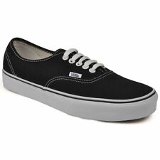 Vans Classic Authentic Black White Kids Trainers