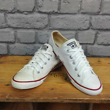 CONVERSE LADIES WHITE ALL STAR OX LOW DAINTY TRAINERS PLIMSOLLS UK 3.5 4 5, 6, 7