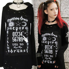 Japanese Harajuku Punk Gothic Cool Unisex Long Sleeve Sweater Dress Visual kei