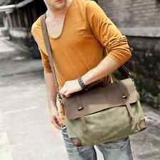 2016 Mens Canvas Leather Laptop Bag Shoulder Messenger Satchel Briefcase Vintage