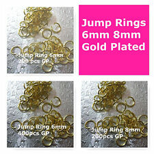 Open Jump Rings Jewelry Findings 6mm 8mm 200pcs 400pcs Bead Supply