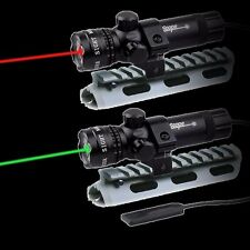 Tactical Red/Green Dot Laser Sight Rail Barrel Mount Remote Switch for Rifle Gun