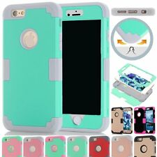 Shockproof Hybrid 3in1 Rubbr Silicone PC Case Cover Skin for iPhone 6 6s/Plus 5s