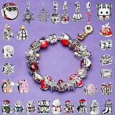Hot Fashion Handmade Style European Holiday 925 Silver Charms Fit Bead Bracelets