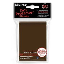 ULTRA PRO 50CT BROWN STANDARD DECK PROTECTOR SLEEVES #84027 NEW