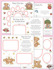 Angel Teddy Bear Premade Scrapbook Pages Layout 12x12 Album Book Baby Girl Gift