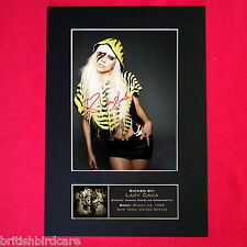 LADY GAGA Mounted Signed Photo Reproduction Autograph Print A4 236