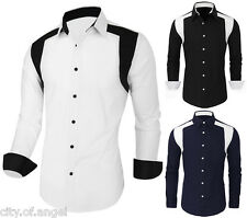 Mens Fashion Casual Button Down Slim Fit Long Sleeve Casual Formal Dress Shirts