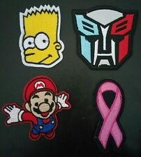 1pc Super Mario Breast Cancer Bart Simpson Autobots Logo Iron Sew Patch Transfer