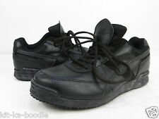 Mens Black Shoes for Crews SFC Leather Catering Lace Up Work Trainers TK46