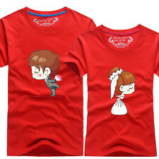 Women men tops for summer clothes Lovers couple T-shirt Couple marriage proposal