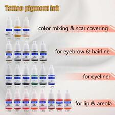 Tattoo Pigment Permanent Makeup Color Ink Cosmetics Fr Eyebrow Eyeliner Lip D6B4