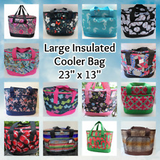 """24"""" Large INSULATED COOLER BAG Beach Pool Travel Picnic Shopping Thermal Tote"""