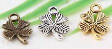 wholesale 52/180Pcs Bronze、Silver、Gold Plated Flowers Charms 15x10mm (Lead-Free)