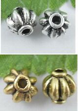 wholesale 28/92Pcs Gold/Silver Plated Spacer Beads 8x8mm (Lead-Free)