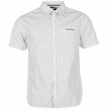 Pierre Cardin Mens Short Sleeve Geo Shirt Button Fastening Top Casual Clothing