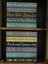 NEW SELECTION OF WOODEN SHELF SITTERS WALL SIGN PLAQUES GIFT FOR FRIENDS