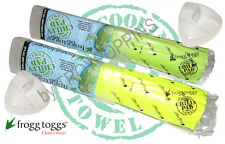 FROGG TOGGS CHILLY PAD COOLING TOWEL-1-CP100-GREEN OR YELLOW SUN GEAR WEATHER