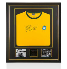 Premium Framed Pele Signed Shirt - Legend Brazil Shirt
