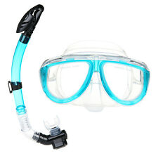 Diving Snorkeling Swimming Scuba Total Dry Snorkel and Mask Glass Lens Silicone