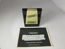 Frogger II 2 Threeedeep Coleco for Colecovision Cartridge & Manual  Excellent