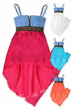 Girls Tunic Top & Legging Set New Kids 2 Piece Vibrant Summer Outfit 2-10 Years