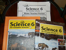 BOB JONES SCIENCE TEXTBOOK BUNLDE-- 6TH GRADE  3 PIECE SET