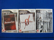 wii RESIDENT EVIL Games Archives 1 + 0 Zero + 4 Wii Edition Survival Horror PAL