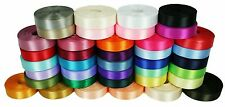 "10 Yards Rolled up 5/8"" SINGLE FACE SATIN Ribbon 100% Polyester Choose Color"