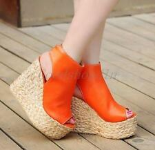 Women Over High Heels Stylish Platform Wedge Pumps Ankle Boots Shoes Fashion