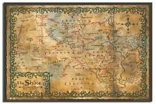 The Hobbit Map Of The Shrine Poster New - Laminated Available