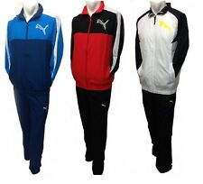 Mens Puma Full Zip TrackSuit Woven Track Top & Bottoms Football Training Suit